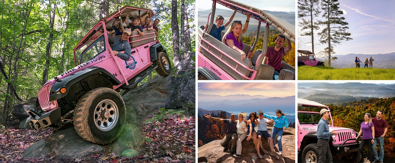 Pink Jeep Tours of Pigeon Forge Collage