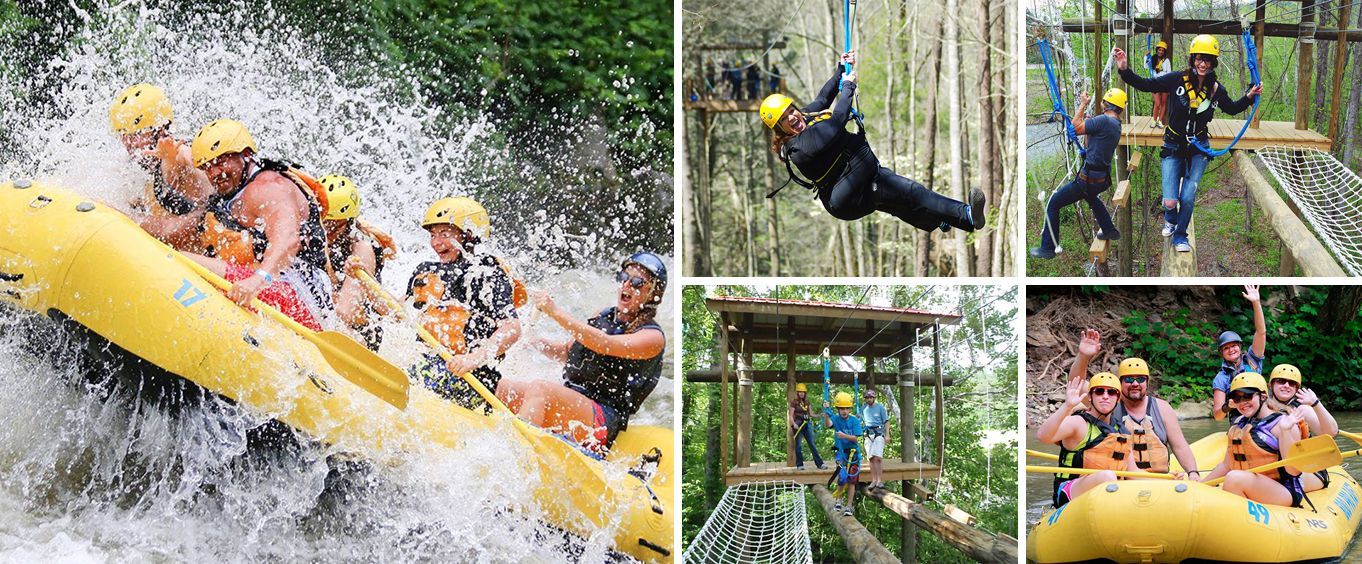 Pigeon Forge Smoky Mountain Whitewater Rafting Collage