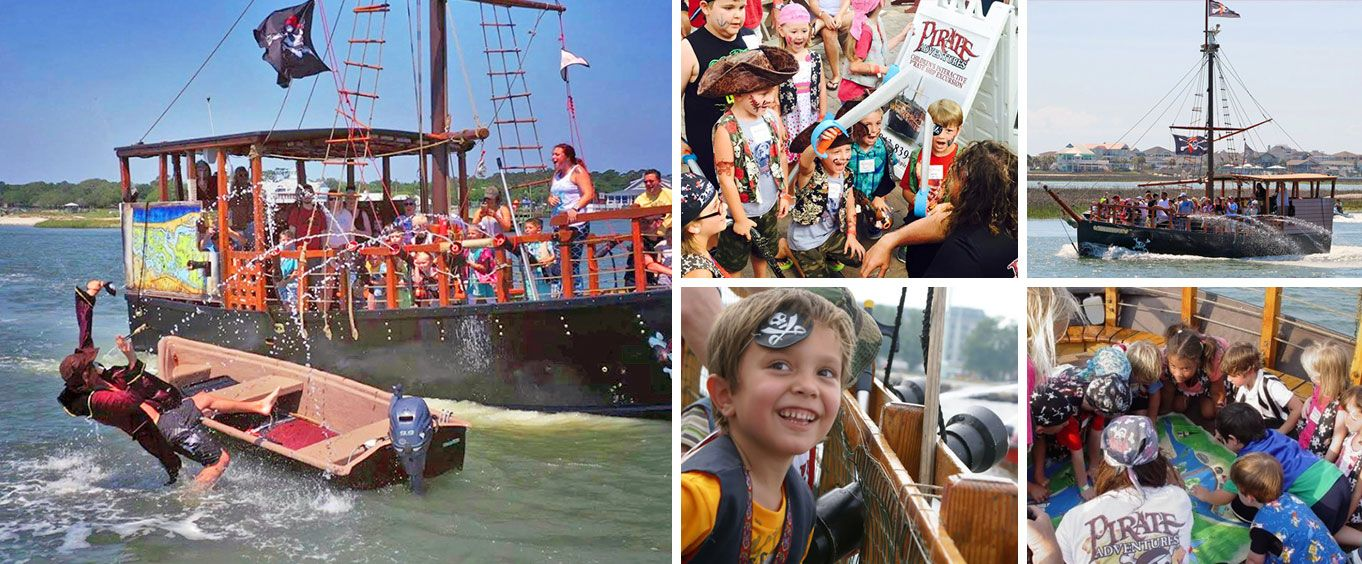 Pirate Adventures of Myrtle Beach Children's Pirate Cruise Collage
