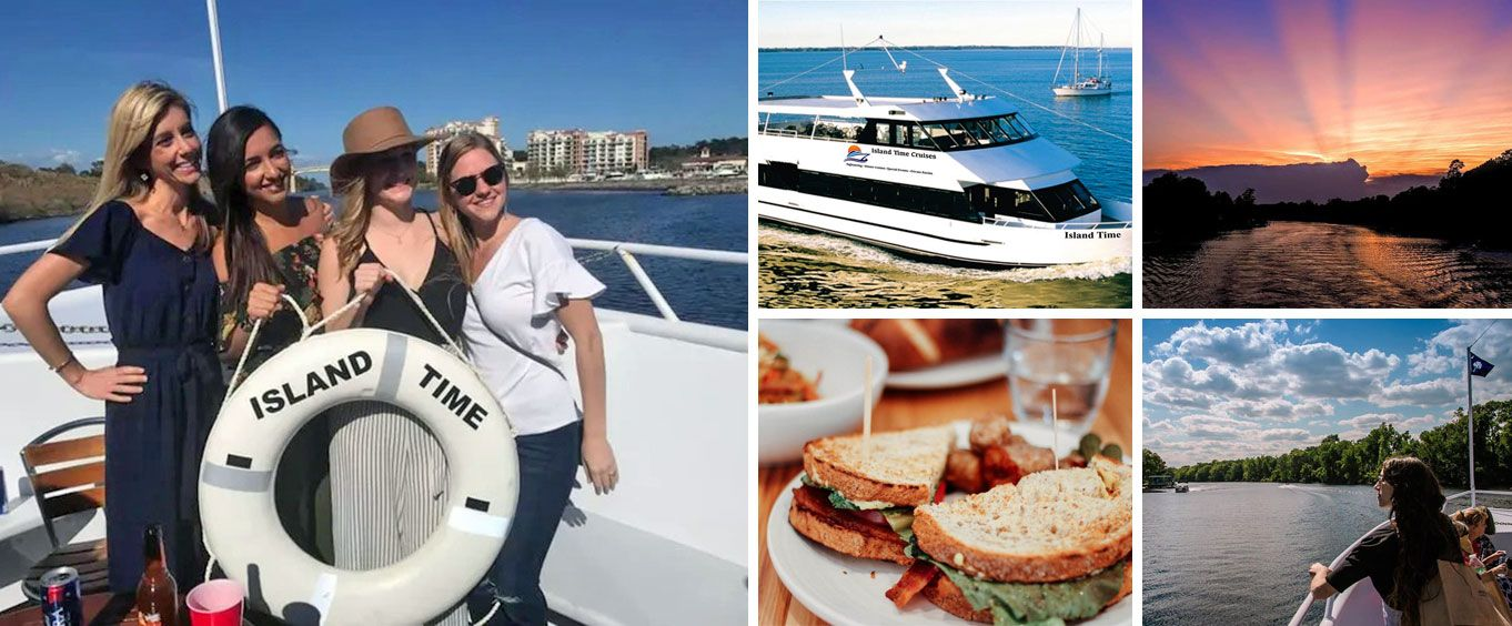 Island Time Myrtle Beach Sightseeing, Sunset & Dinner Cruises Collage