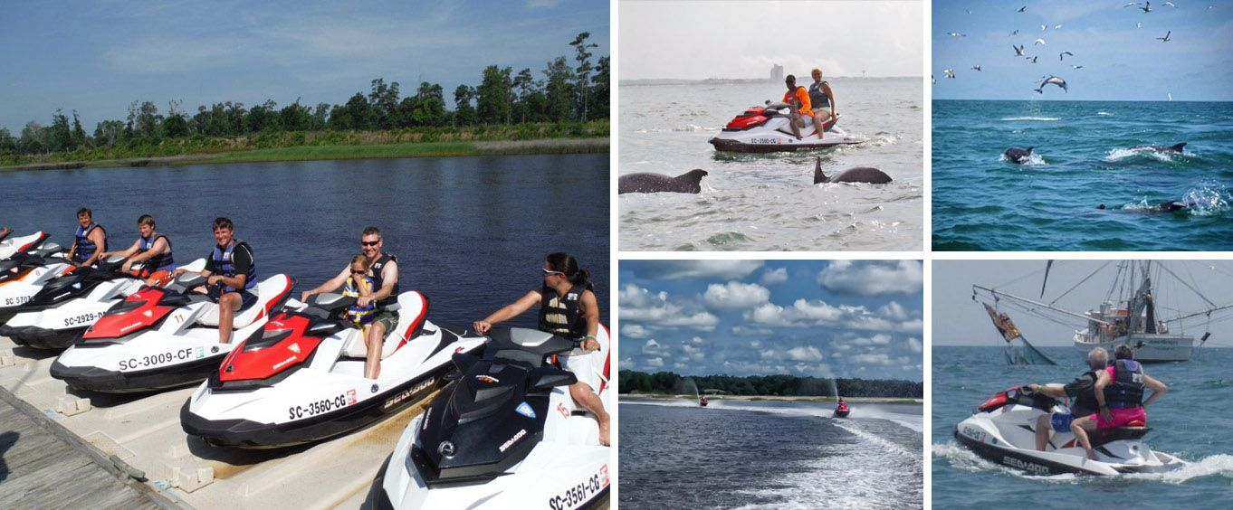 North Myrtle Beach Jet Ski Rentals & Jet Ski Dolphin Watch Collage