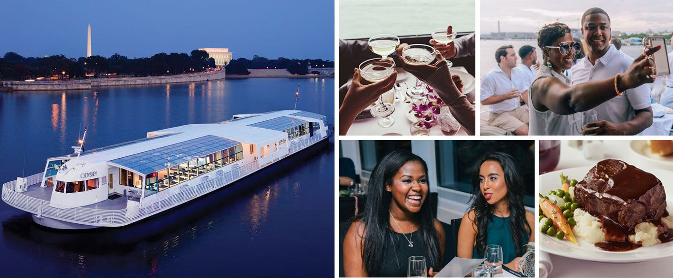 DC Odyssey Lunch & Dinner Cruises Collage
